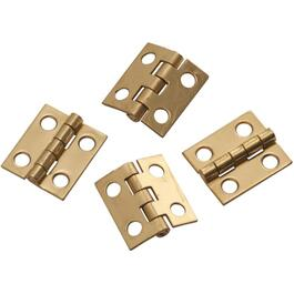 "4 Pack 3/4"" x 5/8"" Solid Brass Narrow Hinges thumb"