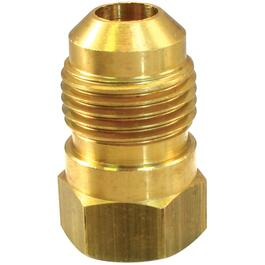 "3/8"" Flare x 1/4"" Female Pipe Thread Brass Connector thumb"