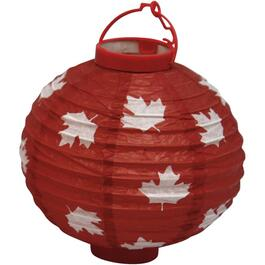Hanging Battery Operated Canada Chinese Lantern, Assorted Colours thumb