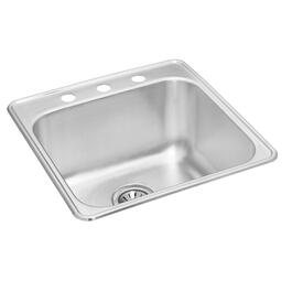 "20"" x 20 1/2"" x 10 1/8"" Stainless Steel Single Drop In Kitchen Sink thumb"