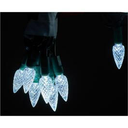 70 LED Pure White C6 Twinkle Light Set, with Green Wire thumb