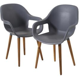 2 Pack Orlando Grey Bucket Chairs thumb