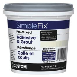 946mL Bright White Pre-Mixed Adhesive + Grout thumb