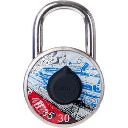 Coloured Logo Combination Padlock, Assorted Designs thumb