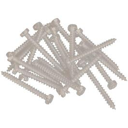 "100 Pack 6"" x 5/8"" Matchcoat Sandalwood Pan Head Screws, for Aluminum Soffit and Fascia thumb"
