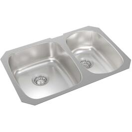 "27"" x 18"" x 7 1/8"" Stainless Steel One and a Half Bowl Undermount Kitchen Sink thumb"