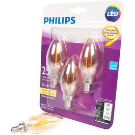 3 Pack 2.5W B11 Candelabra Base Soft White Vintage LED Light Bulbs thumb