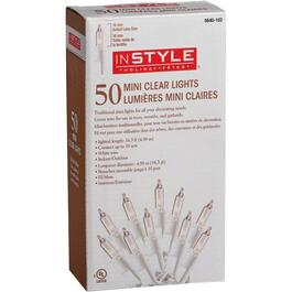 Mini 50 Light Clear Incandescent Light Set, with White Wire thumb