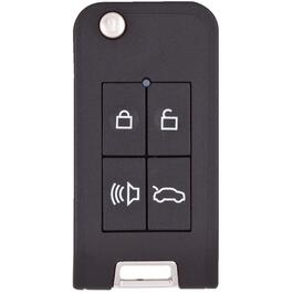 4 Button GTI Fob Flip Key Case, with Transponder thumb