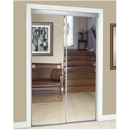 "48"" x 80"" Silver Top Roll Mirror Sliding Door thumb"
