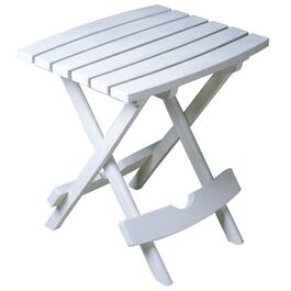 "15"" x 17"" White Resin Folding Side Table thumb"