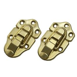 2 Pack Brass Plated Decorative Draw Catches thumb