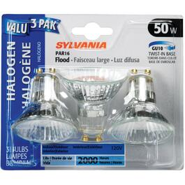 3 Pack 50W PAR16 GU10 Base Halogen Light Bulbs thumb