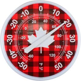 "12"" Indoor/Outdoor Canada Thermometer, Assorted Designs thumb"