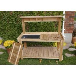 5.1' Uncut Cedar Bench Planter Package thumb