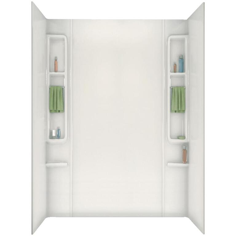"maax 80"" finesse white acrylic tub wall - home hardware canada"