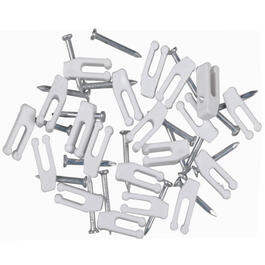 20 Pack White Nail-In Phone Clips thumb