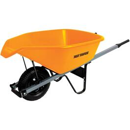 6 Cu. Ft Poly Tray Wheelbarrow, with Easy Pour Spout thumb