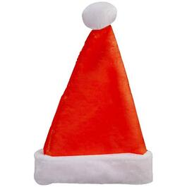 "17"" Deluxe Red Plush Santa Hat thumb"