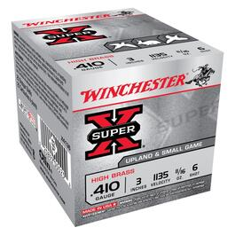 "25 Rounds 3"" 410 Gauge #6 Super-X Ammo thumb"