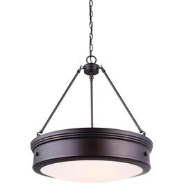 Boku 4 Light Oil Rubbed Bronze Chandelier Light Fixture with Flat Opal Glass thumb