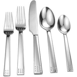 20 Piece Stainless Steel Ruby Flatware Set thumb