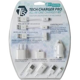 8 Piece USB All-in-1 Charger Kit thumb