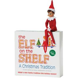 English Elf Boy on the Shelf, with a Book thumb
