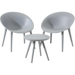 3 Piece Marbella Grey Resin Chat Set thumb