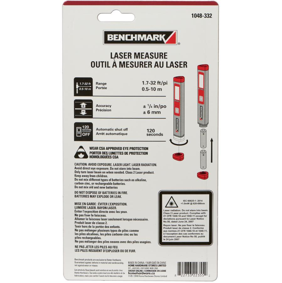 benchmark 32' laser measure - home hardware canada