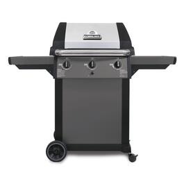 3 Burner 625 sq. in. 40,000BTU Black Natural Gas Barbecue Cart thumb