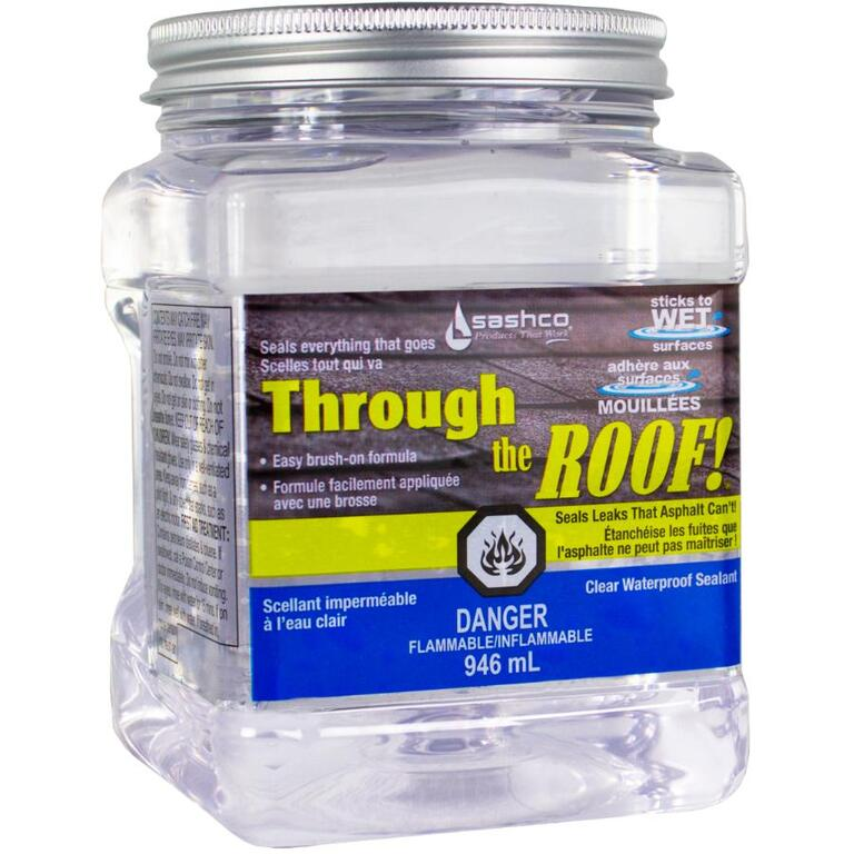 Sashco 946mL Clear Through the Roof Coating | Home Hardware