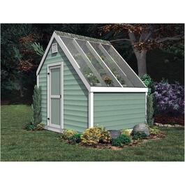 8' x 10' Vinyl Sided Gable Green House Shed thumb