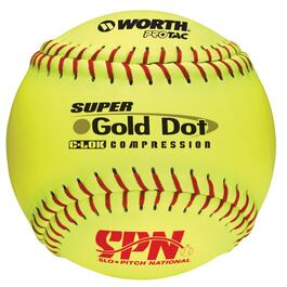 "12"" Optic Yellow Gold Dot Softball thumb"