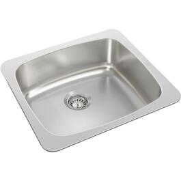 "20"" x 18"" x 7 1/8"" Stainless Steel Single Drop In Kitchen Sink thumb"