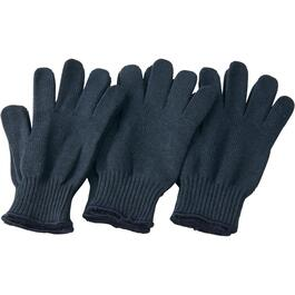 3 Pairs Men's One Size Heavy Duty Polyester Knit Work Gloves thumb