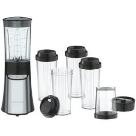 350 Watt 15 Piece Black/Stainless Steel Personal Blender Set, with Plastic Cups thumb