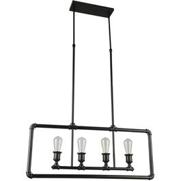 Boston 4 Light Black Pendant Light Fixture thumb