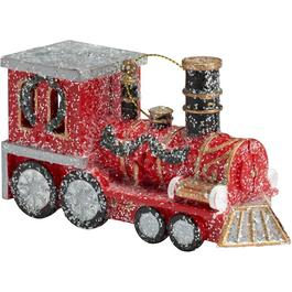 "5"" x 3"" Red Locomotive Ornament thumb"