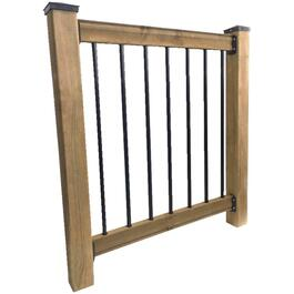 6' Traditional Brown Pressure Treated Railing Kit thumb