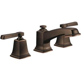 "Boardwalk Two Lever 8"" Widespread Mediterranean Bronze Lavatory Faucet thumb"