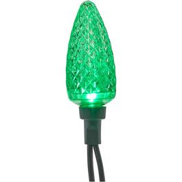 25 LED Green C9 Light Set, with Green Wire thumb