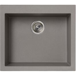 "22-1/2"" x 19-3/4"" Titanium Drop-In Single Granitek Kitchen Sink with Squared Corners thumb"