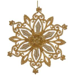 Gold and Platinum Acrylic Snowflake Ornament, Assorted Design thumb
