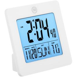 LCD 24 Hour Digital Desktop Alarm Clock, with Day, Date, Temperature, Alarm and Backlight, Assorted Colours thumb