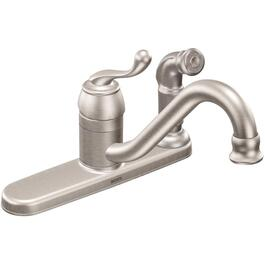 Muirfield Stainless Steel Single Lever Faucet Deck, with Spray thumb