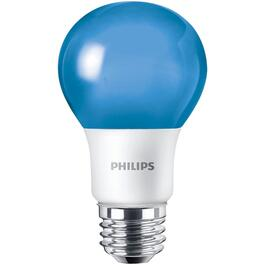8W A19 Medium Base Non-Dimmable Blue LED Light Bulb thumb