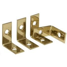 "4 Pack 1"" x 1/2"" Brass Corner Braces thumb"