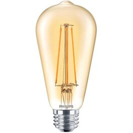 5.5W ST19 Medium Base Amber Vintage LED Light Bulb thumb