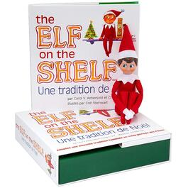 French Elf Boy on the Shelf, with a Book thumb